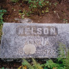 Howardsville-Cemetery--- Anna A Nelson-marker